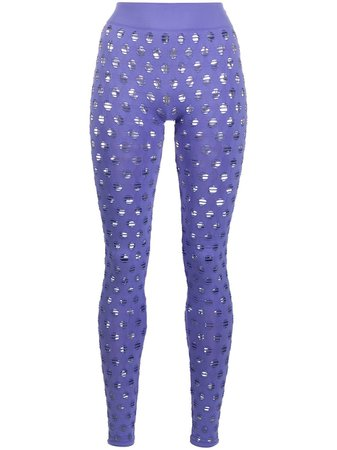 Maisie Wilen All Over Perforated Leggings - Farfetch
