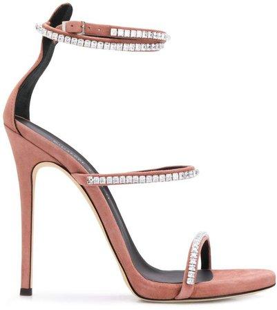 gemstone heeled sandals