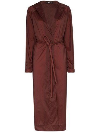 KASSL Editions Fluid Belted Trench Coat - Farfetch