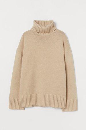 Turtleneck Sweater - Beige