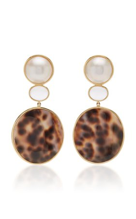Bahina One of a Kind Porcellini Shell Earrings