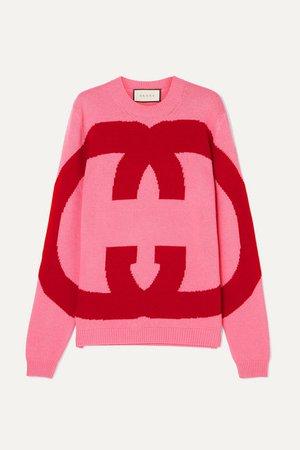 Gucci | Intarsia wool sweater | NET-A-PORTER.COM