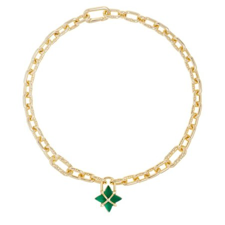 Orion Star Chain Necklace - Green | All We Are | Wolf & Badger