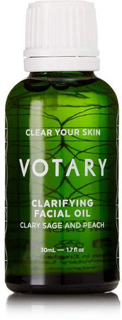 Votary - Clarifying Facial Oil - Clary Sage And Peach, 30ml