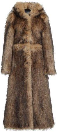 Paco Rabanne Hooded Fur Coat