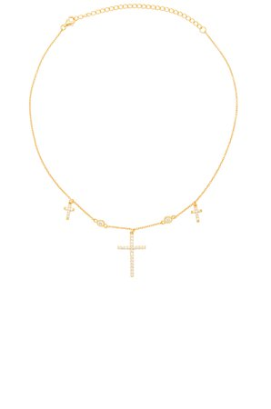 The Dainty Cross Choker