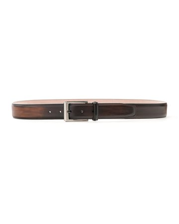 Magnanni Manchester Square-Buckle Leather Belt