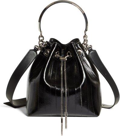 Bon Bon Genuine Eel & Leather Bucket Bag