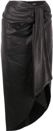 lamb skin sarong skirt