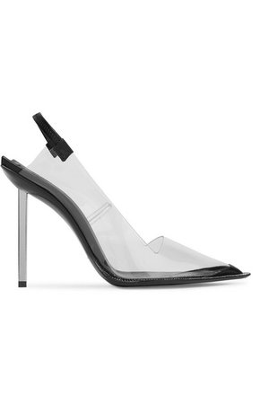 Alexander Wang | Marlow crystal-embellished PVC and leather slingback pumps | NET-A-PORTER.COM