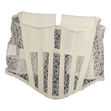Lace corset Dion Lee White size S International in Lace - 12860198