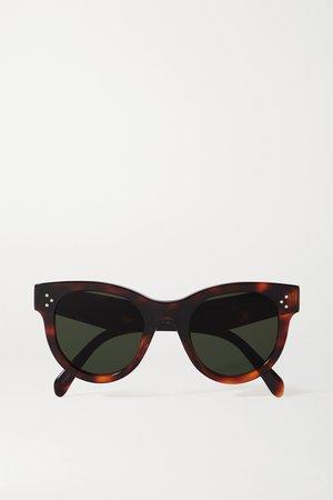 Tortoiseshell Round-frame tortoiseshell acetate sunglasses   Celine   NET-A-PORTER