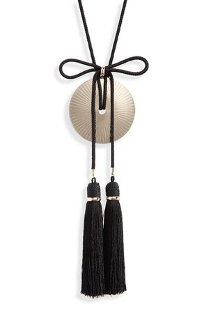 Saint Laurent Loulou Tassel Fringe Pendant Necklace | Nordstrom