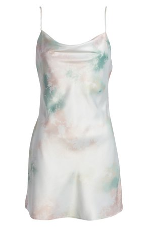 Speechless Tie Dye Satin Slipdress | Nordstrom