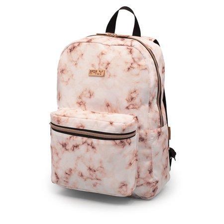 "iFLY - Backpack Heather 16"", White / Rose Gold Print - Walmart.com beige"