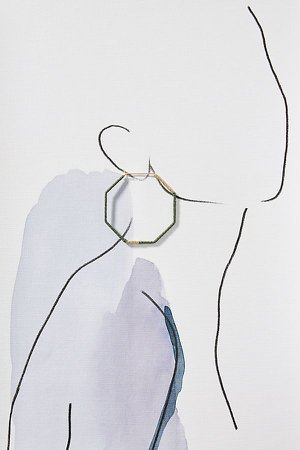 Octagonal Hoop Earrings | Anthropologie