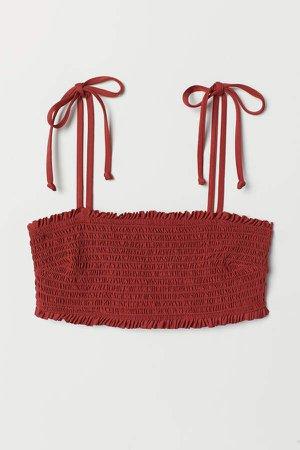 Bandeau Bikini Top - Red