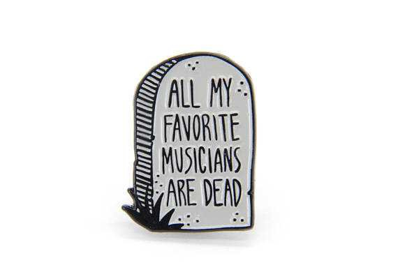 Music Enamel Pin Punk Band Quote All My Favorite