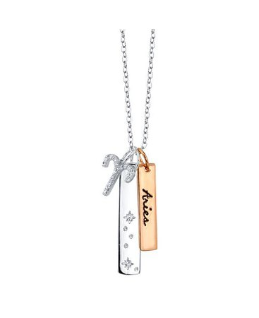 Unwritten Cubic Zirconia Constellation Aries necklace