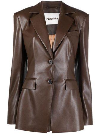 Nanushka Hathi vegan leather blazer - FARFETCH