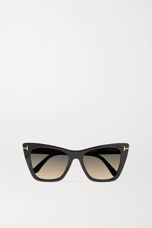 Black Poppy-02 cat-eye acetate sunglasses | TOM FORD | NET-A-PORTER