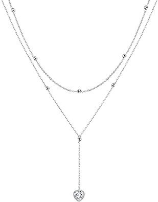 silver necklace - Google Search