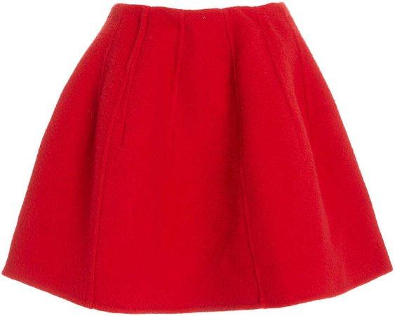 Oscar de la Renta Wool Cashmere Mini Skirt