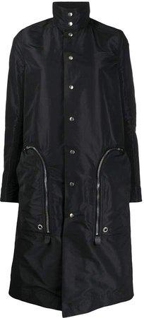 Satin-Shell Trench Coat