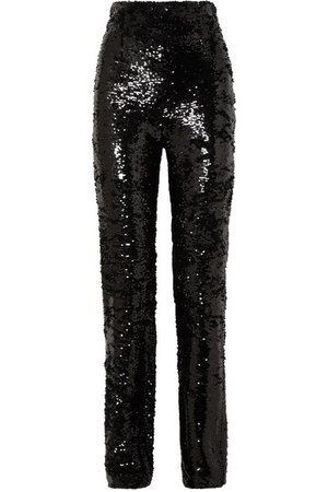 16ARLINGTON | Sequined crepe straight-leg pants | NET-A-PORTER.COM