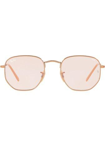 Ray-Ban Hexagonal Flat Sunglasses Ss20 | Farfetch.Com