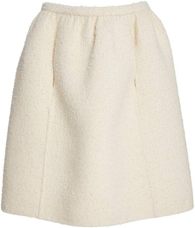 Marc Jacobs Gathered Wool-Boucle Knee-Length Skirt