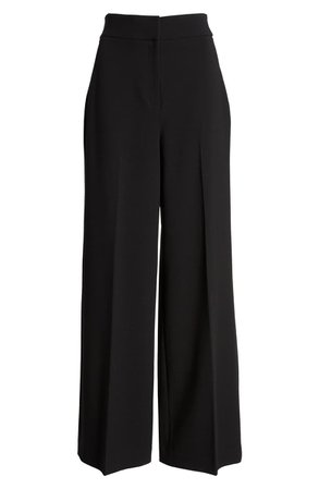 Halogen® High Waist Wide Leg Stretch Twill Pants (Regular & Petite) | Nordstrom