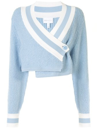 Alice McCall Get The Blues Cropped Cardigan