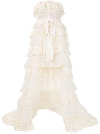Zuhair Murad Ruffle Asymmetric Dress - Farfetch