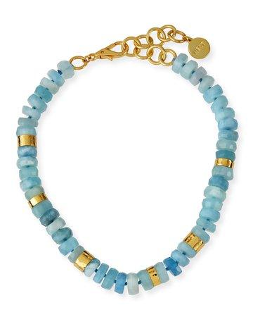 NEST Jewelry Aquamarine Beaded Necklace