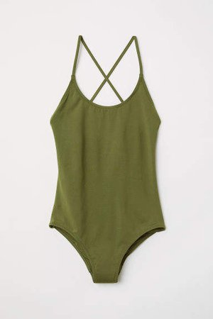 Swimsuit with Lacing - Green