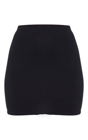 Black Ultimate Jersey Mini Skirt | Skirts | PrettyLittleThing