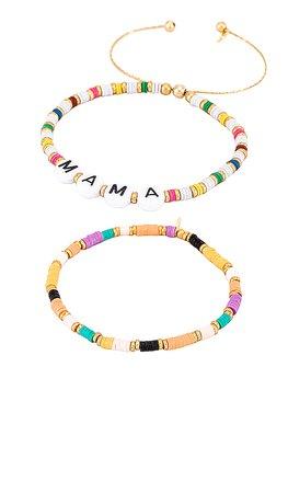 SHASHI Mama Bracelet Set of 2 in Multi   REVOLVE