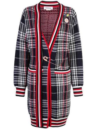 MONSE vintage plaid cardi-coat