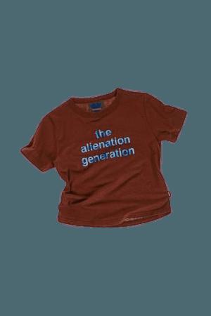 ALIENATION GENERATION BABY TEE