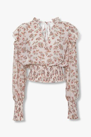 Floral Self-Tie Top | Forever 21