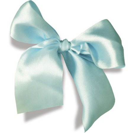 aqua blue bow filler