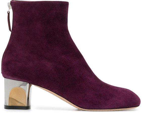 clear heel boots