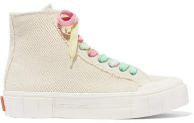 GOOD NEWS - Organic Cotton-canvas High-top Sneakers