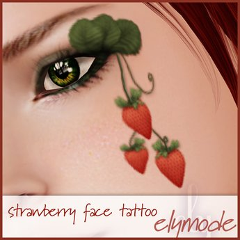 Second Life Marketplace - *elymode* makeup - strawberry face tattoo