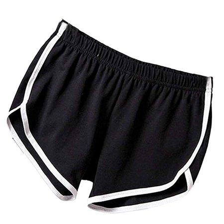 Imixshopps Women Hot Sports Shorts Gym Workout Yoga Short Athletic Elastic Waist