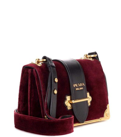Prada - Cahier velvet shoulder bag
