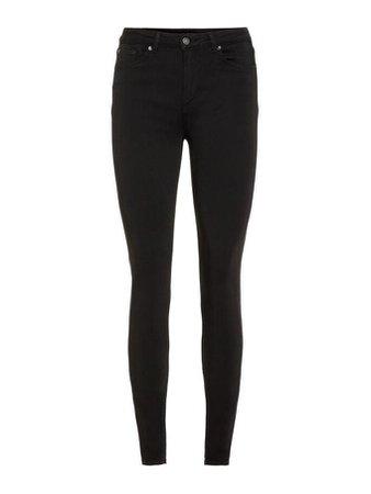 Lux mid waist skinny Fit Jeans | BLACK