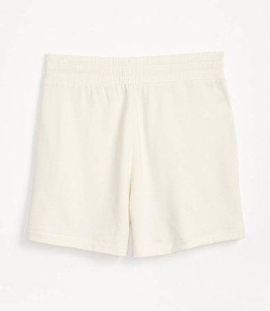 Signaturesoft Plush Drawstring Shorts | Lou & Grey white