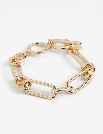 Interlocking Paperclip Toggle Bracelet | Express